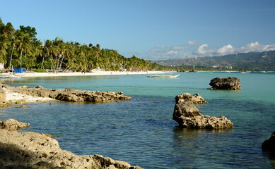 View of White Beach, station one. Boracay. Aklan. Western Visayas. Philippines