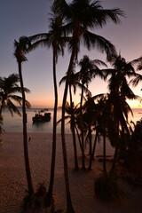 Willy's Rock at dusk. White Beach. Boracay. Aklan. Western Visayas. Philippines