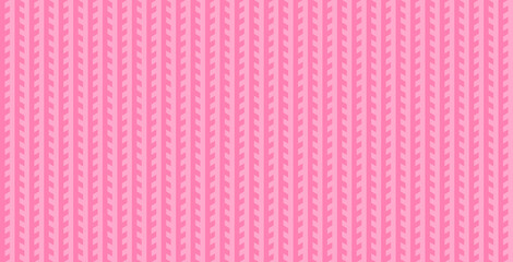 Wall Murals Candy pink Knitted sweater pattern in pink. Seamless geometric pattern background.