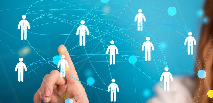 organization chart team concept networking technology.