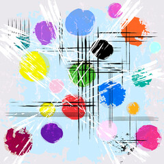 abstract background composition, with paint strokes, splashes and lines, art inspired