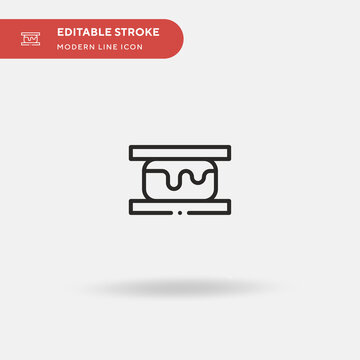 Smore Simple vector icon. Illustration symbol design template for web mobile UI element. Perfect color modern pictogram on editable stroke. Smore icons for your business project