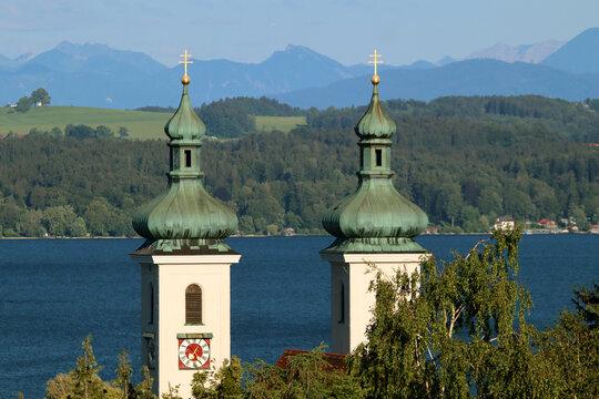 Tutzing, Starnberger See, Pfarrkirche St.Joseph, Kirchturm, Kirche