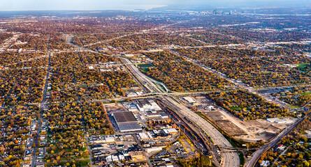 Suburban area near Detroit - Michigan, United States