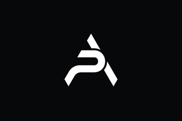 Obraz Minimal Innovative Initial AP logo and PA logo. Letter AP PA creative elegant Monogram. Premium Business logo icon. White color on black background - fototapety do salonu