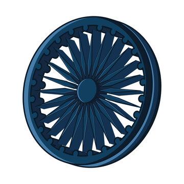Ashoka chakra icon. Flag of India - Vector
