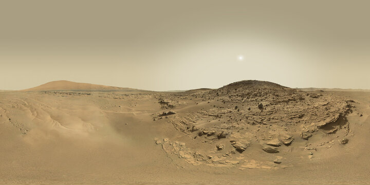 Exploring the Red Planet. 360 degrees panorama