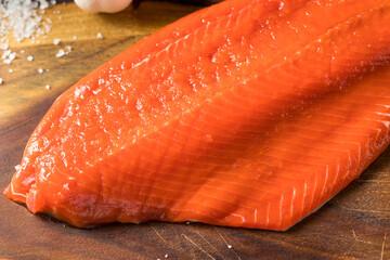 Wall Mural - Raw Organic Wild Salmon Filet