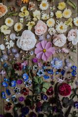 table full of flowers