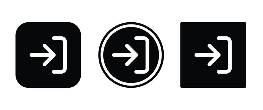log in icon . web icon set .vector illustration