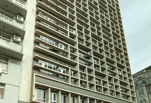 Architecture of the historic center of the city of Porto Alegre in Brazil