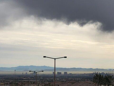 The Las Vegas strip from deep Summerlin.