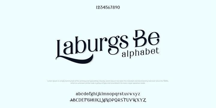 Abstract Serif modern alphabet fonts. Typography technology vector illustration