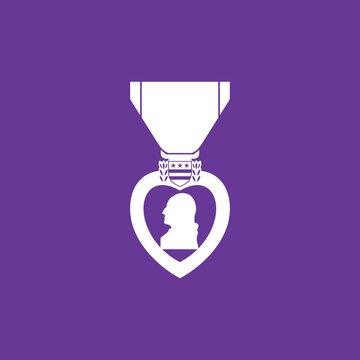 purple heart day vector