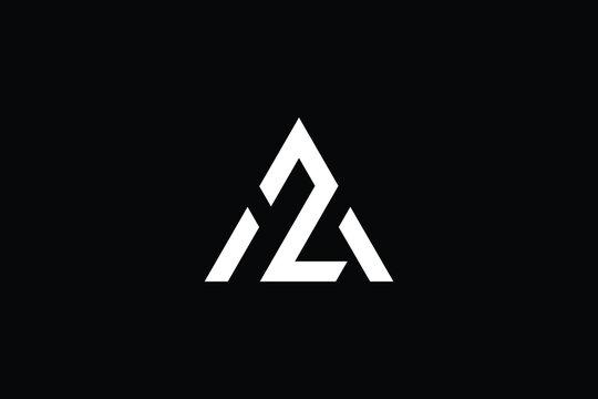 Minimal Innovative Initial AZ logo and ZA logo. Letter AZ ZA creative elegant Monogram. Premium Business logo icon. White color on black background