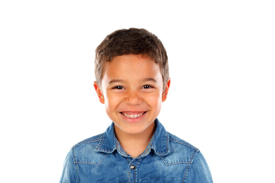 Happy latin child looking at camera