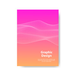 Fototapeta Cover design. full color wave line design. Future geometric patterns with shadows. Eps10 vector