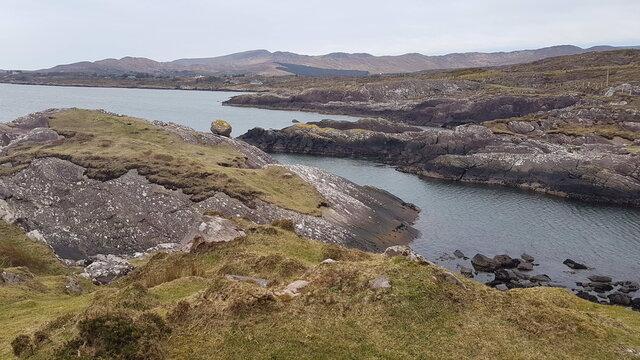 Rocky coast in Kerry, Ireland