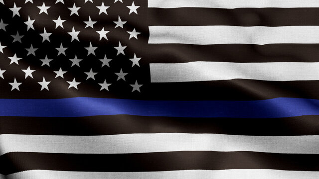 An American flag symbolic of support for law enforcement,usa flag