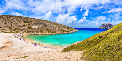beautiful beaches of Greece - Astypalea island, Kounoupa . Dodecanese