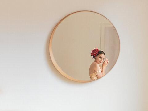 woman in a design flat