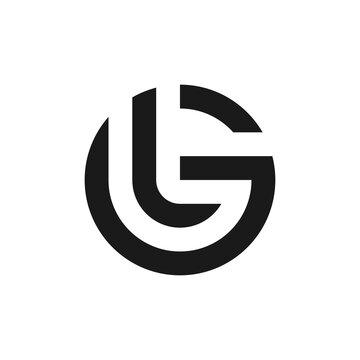 letter GL or LG logo template
