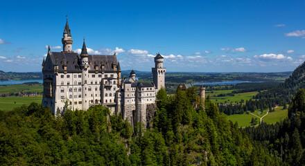 Amazing view of famous Neuschwanstein Castle,  Bavaria, Germany
