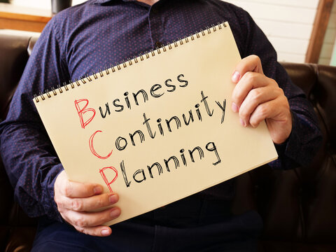 Business Continuity Planning BCP is shown on the conceptual business photo