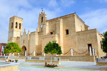 Church of San Bartolome (Saint Bartholomew) Villalba del Alcor. Huelva province Spain