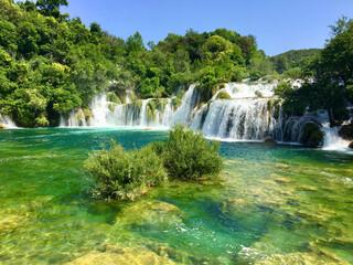 Fototapeta waterfall in the krak park obraz