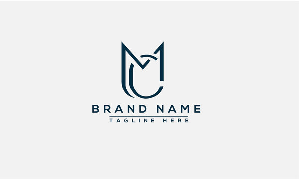MC Logo Design Template Vector Graphic Branding Element.