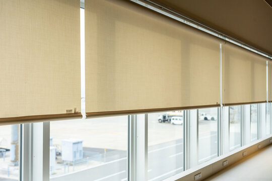 Roll blinds to protect sunlight and lighting to decorate the airplane. Window in the Interior Roller Blinds. Beautiful Blinds on the window
