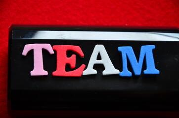 slowo team - fototapety na wymiar