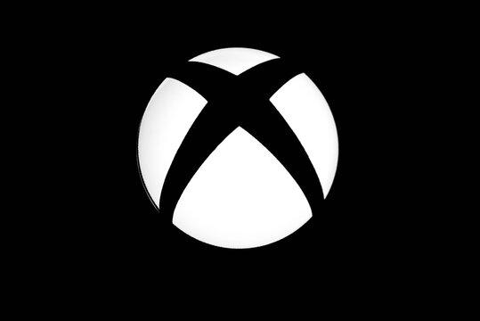Miercurea Ciuc, Romania-23 June 2018: Xbox one video game logo close up macro shot.