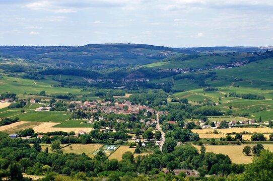 La commune de Cheilly-lès-Maranges en Bourgogne.
