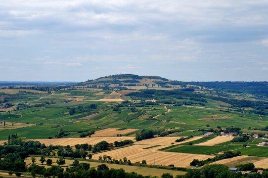 Le  Mont Rome en Saône-et-Loire.
