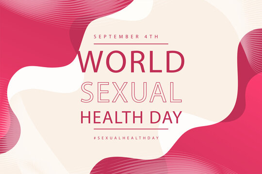 World sexual health day concept vector illustration