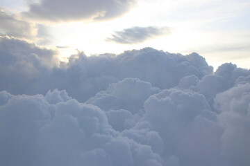 beautiful cloud, view from the window of an airplane