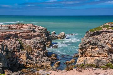 Rocky coast near Mount Gambier South Australia