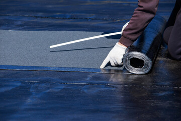 Measurement of roofing material