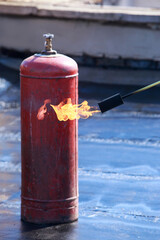 Gas barrel on the roof