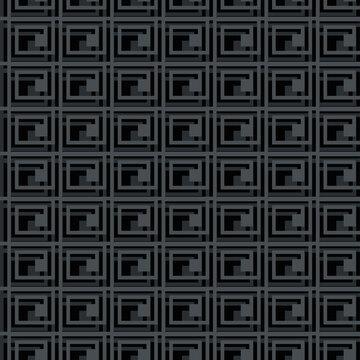 Geometry maze pattern. Vector labyrinthe. Monochrome textured background, seamless background