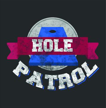 Funny Hole Patrol Cornhole Bean Bag Toss Gift new design vector illustrator