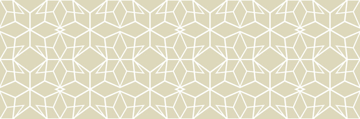 Papiers peints Artificiel White arabic seamless pattern on olive green background