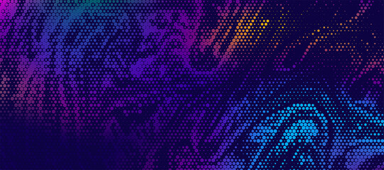Abstract halftone textured illustration. Vector blur background with halftone effect.