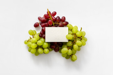 white businesscar with grapes