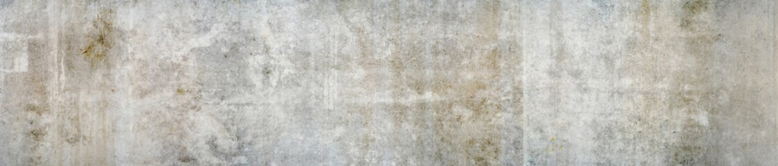 Panorama of a grungy white wall