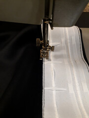 We sew curtains - sewing curtain tape to the fabric. Blackout with your own hands.