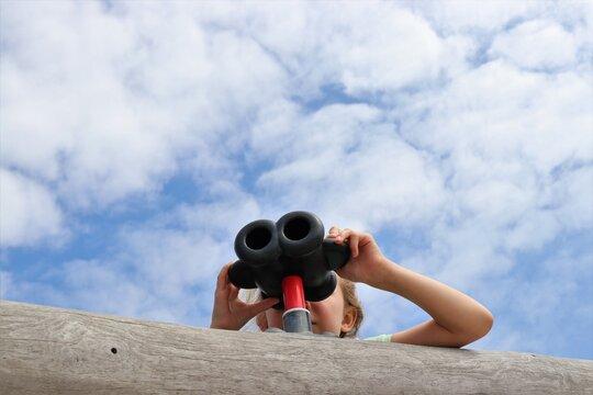Binoculars in the sky