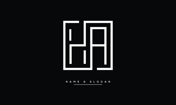 HA ,AH ,H ,A Abstract Letters Logo Monogram